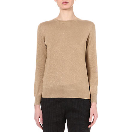 DRIES VAN NOTEN January metallic jumper (Skin