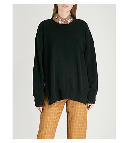 DRIES VAN NOTEN Jaxine open-back cashmere jumper (Black