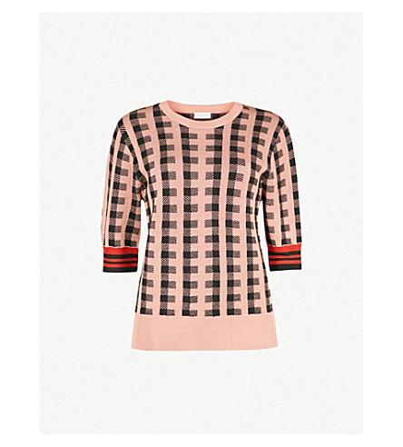 DRIES VAN NOTEN Jayan wool-blend jumper (Peach