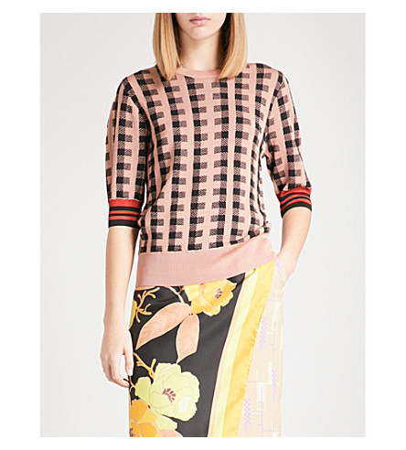 DRIES VAN NOTEN Jayan wool-blend jumper (Peach