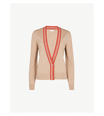 DRIES VAN NOTEN Wool-blend cardigan (Camel