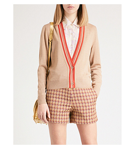 DRIES VAN NOTEN Jerika wool-blend cardigan (Camel
