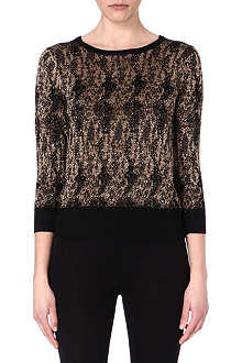 DRIES VAN NOTEN Jingo lurex jacquard jumper
