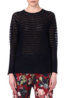 DRIES VAN NOTEN Sheer-stripe jumper