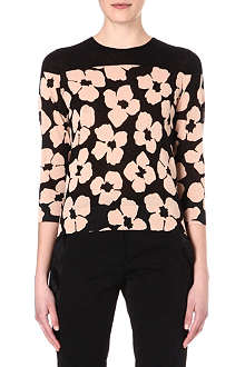 DRIES VAN NOTEN Poppy print jumper