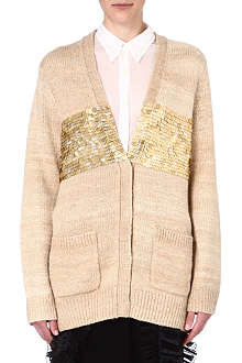 DRIES VAN NOTEN Jovan sequin-panel cardigan