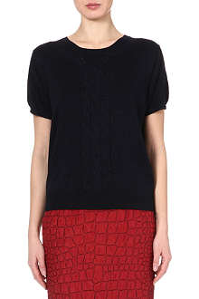 DRIES VAN NOTEN Short-sleeve cable-knit jumper
