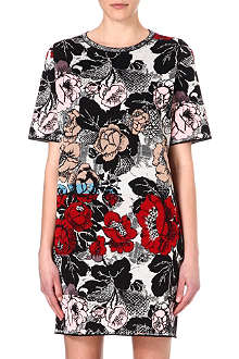DRIES VAN NOTEN Cotton-blend floral print dress