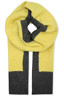 DRIES VAN NOTEN Colour-block scarf