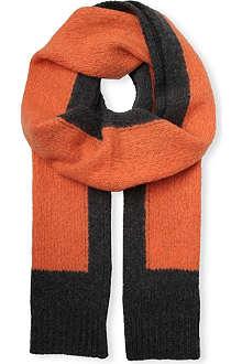DRIES VAN NOTEN Colour-block scarf