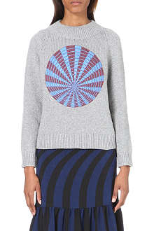 DRIES VAN NOTEN Matchmaker metallic knitted jumper