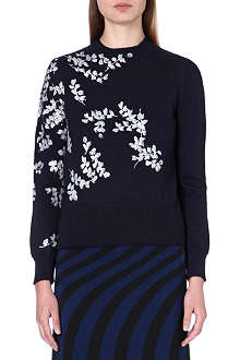 DRIES VAN NOTEN Embroidered knitted jumper