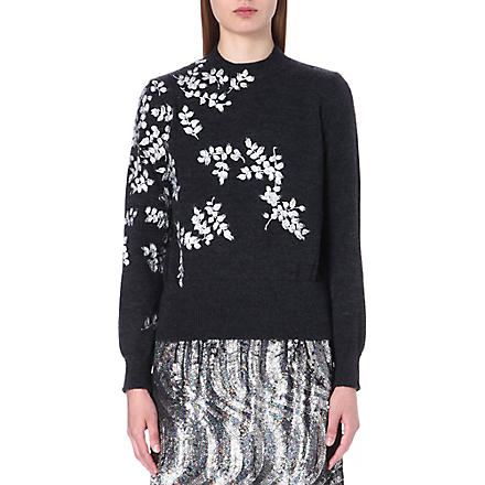 DRIES VAN NOTEN Maurita knitted wool jumper (Anthrocite