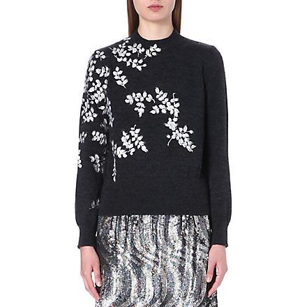 DRIES VAN NOTEN Maurita knitted wool jumper (Anthrocite