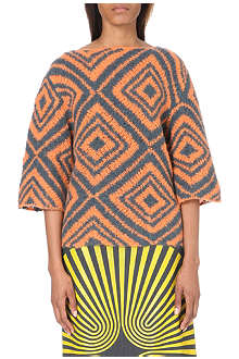 DRIES VAN NOTEN Mission diamond-pattern alpaca-blend jumper