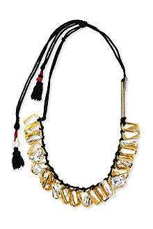 DRIES VAN NOTEN Gold-tone and crystal rope necklace
