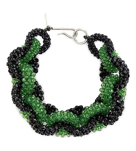DRIES VAN NOTEN Beaded loop chain necklace (Black