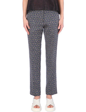 DRIES VAN NOTEN Geometric-print trousers