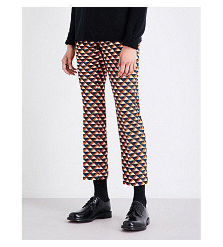 DRIES VAN NOTEN Paola tapered wool-blend trousers (Petrol