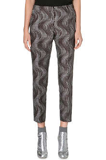DRIES VAN NOTEN Slim-fit jacquard trousers