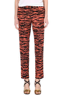 DRIES VAN NOTEN Zebra-print trousers