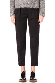 DRIES VAN NOTEN Double pleat cropped trousers