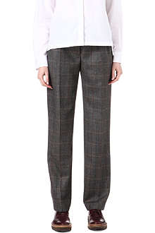 DRIES VAN NOTEN Pasco checked-wool trousers