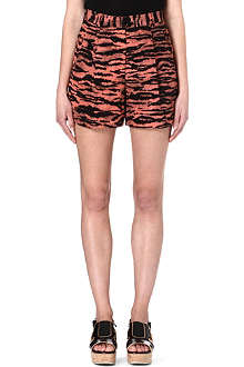 DRIES VAN NOTEN Tiger print shorts