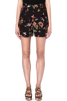 DRIES VAN NOTEN Dark floral shorts