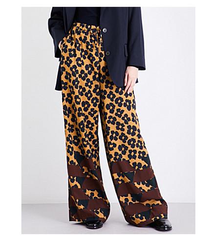 DRIES VAN NOTEN Pavlova wide high-rise crepe trousers (Des+b