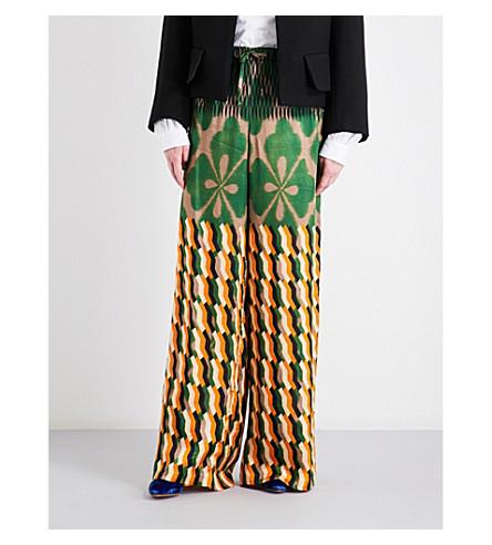 DRIES VAN NOTEN Pavlova high-rise wide crepe trousers (Des+b