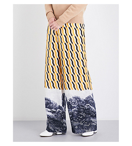 DRIES VAN NOTEN Pavlova high-rise wide crepe trousers (Des+c