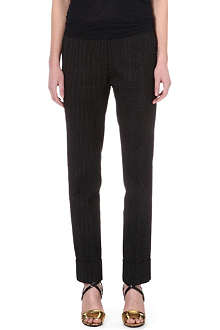 DRIES VAN NOTEN Tailored spotted trousers