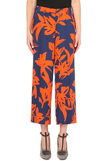 DRIES VAN NOTEN Peers floral-print silk trousers
