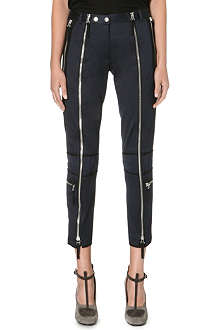DRIES VAN NOTEN Slim-fit biker trousers