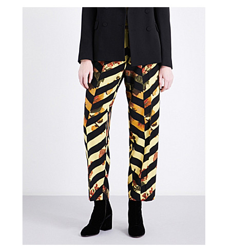 DRIES VAN NOTEN Penny tapered wool-blend trousers (Des+b