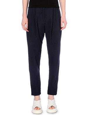 DRIES VAN NOTEN Tapered stretch-cotton trousers