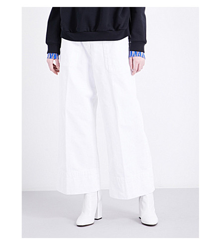 DRIES VAN NOTEN Pilar wide-leg high-rise jeans (White