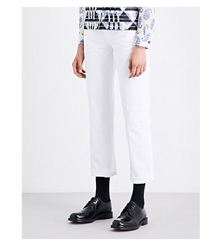 DRIES VAN NOTEN Pisco boyfriend-fit high-rise jeans (White