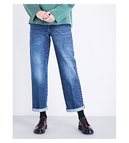 DRIES VAN NOTEN Pisco boyfriend-fit high-rise jeans (Indigo