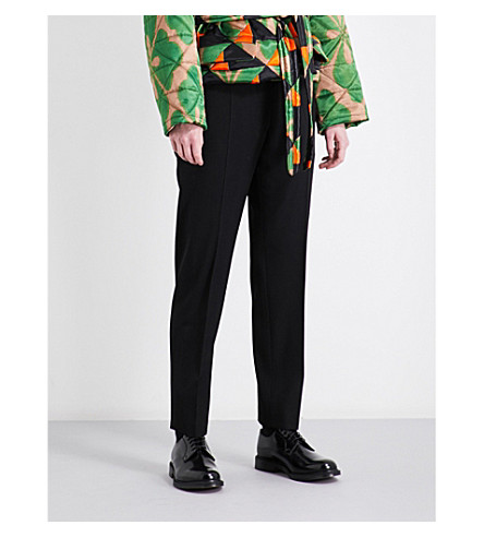 DRIES VAN NOTEN Poumas wool trousers (Black