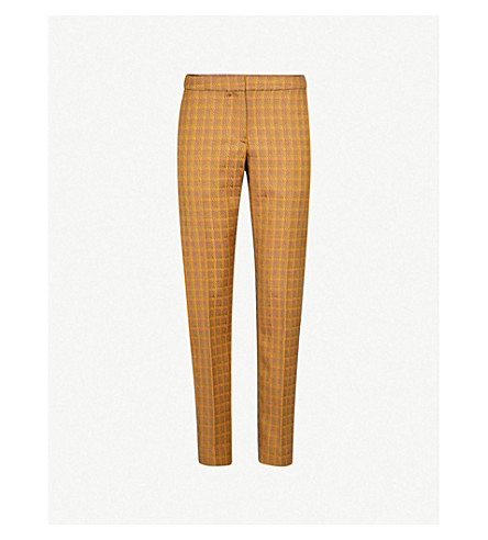 DRIES VAN NOTEN Straight-leg jacquard trousers (Khaki