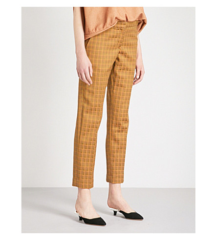 DRIES VAN NOTEN Poumas straight-leg jacquard trousers (Khaki