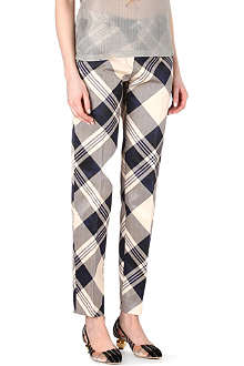 DRIES VAN NOTEN Prima checked trousers