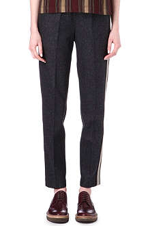 DRIES VAN NOTEN Tapered wool trousers