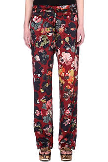 DRIES VAN NOTEN Floral-printed trousers