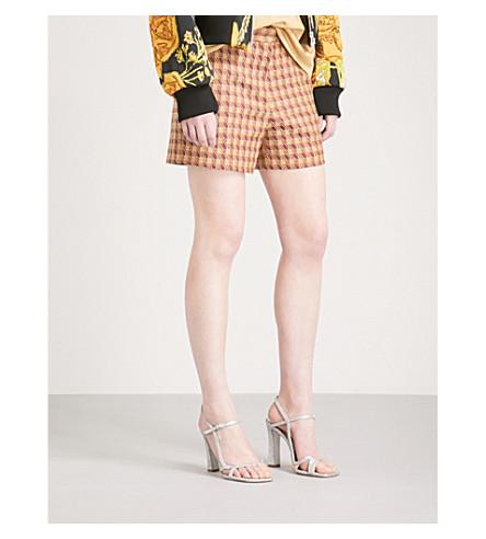 DRIES VAN NOTEN Pulley high-rise jacquard shorts (Purple