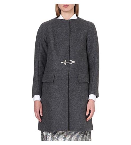 DRIES VAN NOTEN Rakeem wool coat (Grey