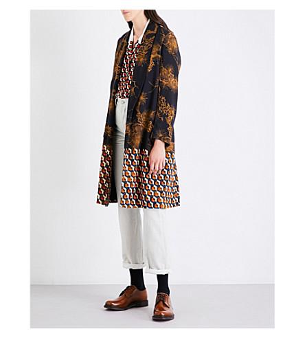 DRIES VAN NOTEN Ravuk branch-print crepe coat (Desa
