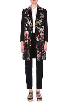 DRIES VAN NOTEN Floral jaquard coat